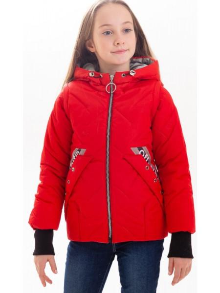 Куртка Гала демисезонная д/дев (красный)