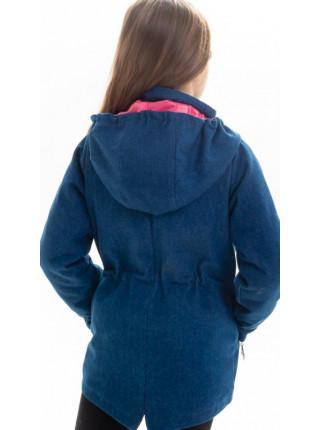 Куртка Кори демисезонная д/дев (джинс темный)