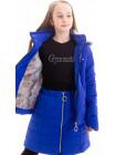 Куртка+юбка Двойка демисезонная д/дев (электрик)