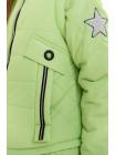 Куртка Мина демисезонная д/дев (лайм)