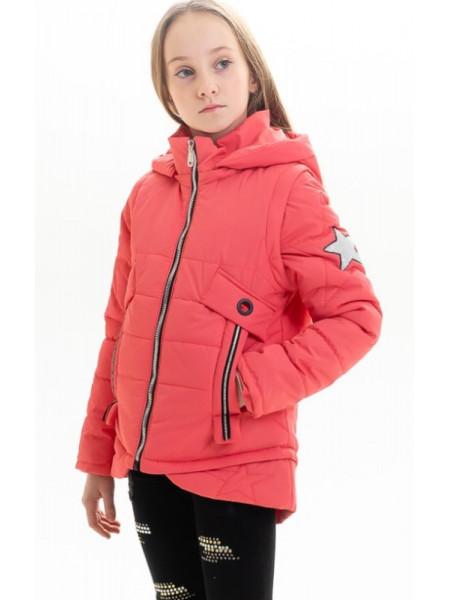 Куртка Мина демисезонная д/дев (коралл)
