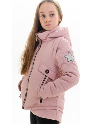 Куртка Мина демисезонная д/дев (пудра)
