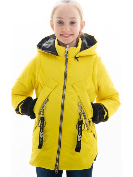 Куртка Нора демисезонная д/дев (желтый)