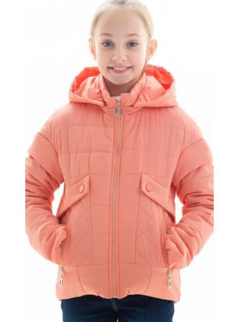 Куртка Алди демисезонная д/дев (персик)