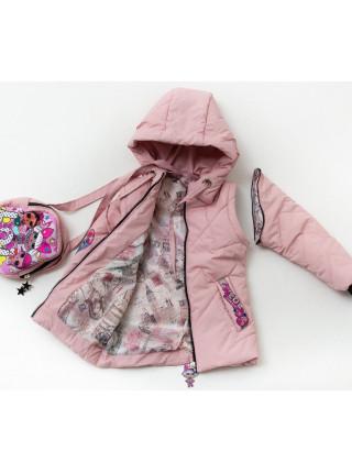 Куртка Леля демисезонная д/дев (пудра)