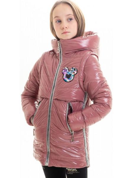 Куртка Марна демисезонная д/дев (пудра)