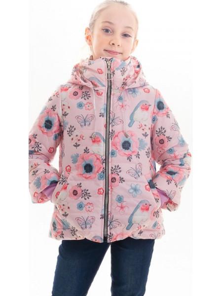 Куртка Минди демисезонная д/дев (розовый/рисунок)