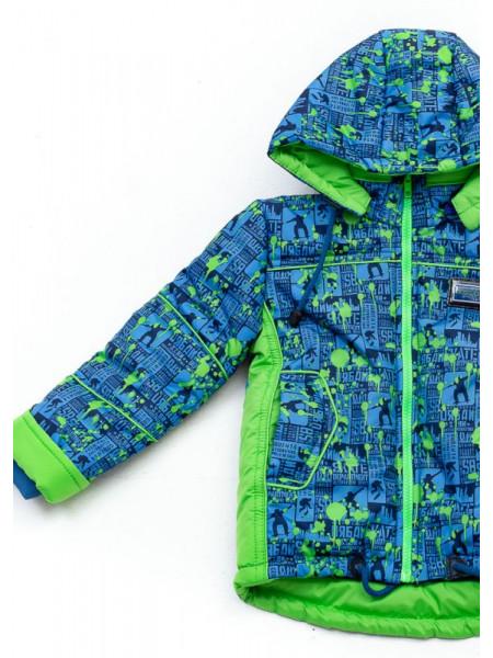 Куртка Морган демисезонная д/мал (синий/салат)