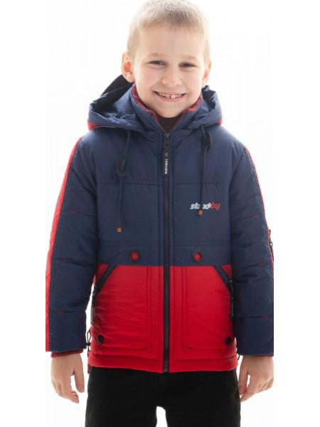 Куртка Нед демисезонная д/мал (синий/красный)