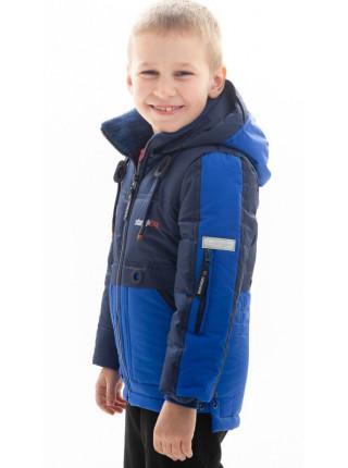Куртка Нед демисезонная д/мал (синий/электрик)