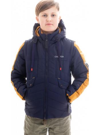 Куртка Саммер демисезонная д/мал (синий/горчица)