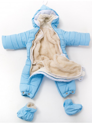 Комбинезон-конверт УШКИ от 0 до 12мес (голубой)