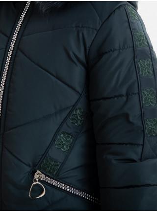 Зимняя куртка ЖИЗЕЛЬ д/дев(бутылка)