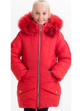 Зимняя куртка ЖИЗЕЛЬ д/дев(красный)