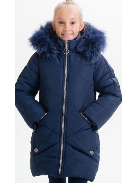 Зимняя куртка ЖИЗЕЛЬ д/дев(синий)