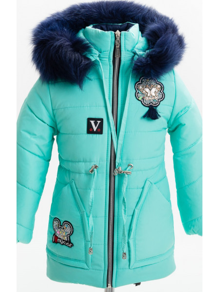 Зимняя куртка АЛЬБА д/дев(мята)