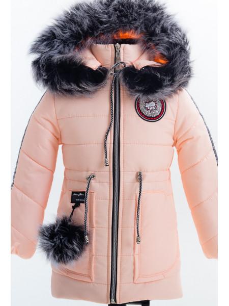 Зимняя куртка ЛАЛИ д/дев(персик)