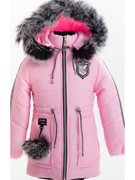 Зимняя куртка ЛАЛИ д/дев(розовый)