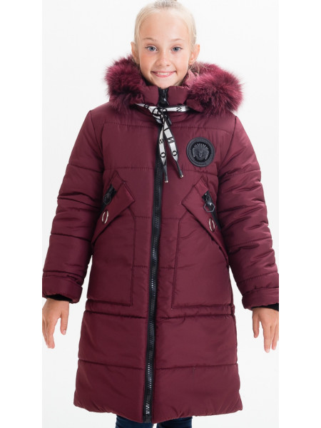 Зимняя куртка МАНУЭЛА д/дев(бордо)