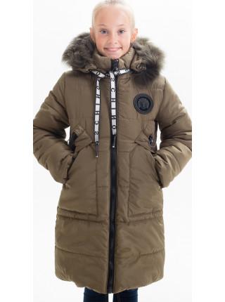 Зимняя куртка МАНУЭЛА д/дев.(хаки)