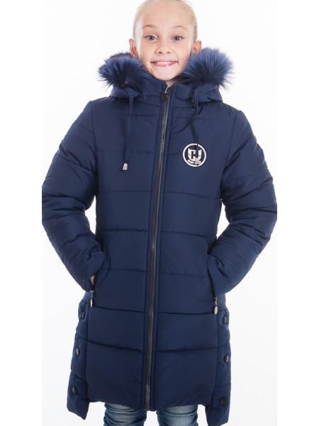 Зимняя куртка ЕВАНГЕЛИНА д/девоч. (т.синий)