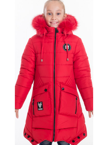 Зимняя куртка ИВЕТТА д/дев(красный)