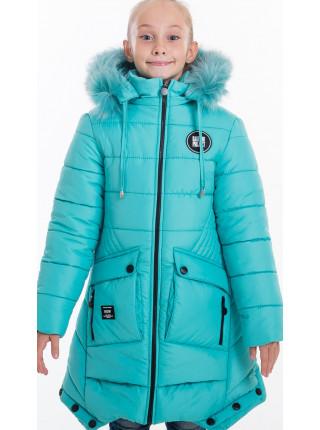 Зимняя куртка ИВЕТТА д/дев(бирюза)