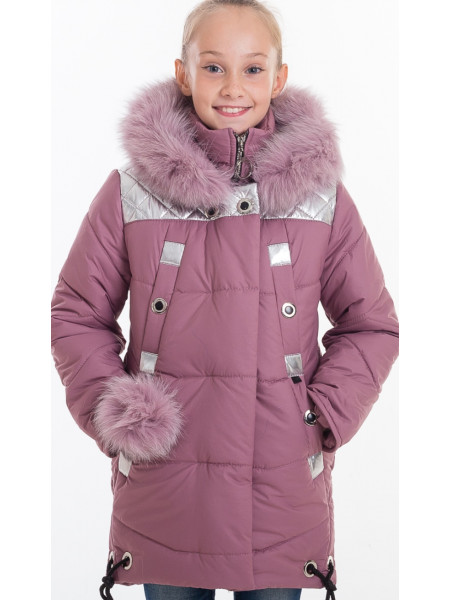 Зимняя куртка РЕГИНА д/дев(розовый/серебро)