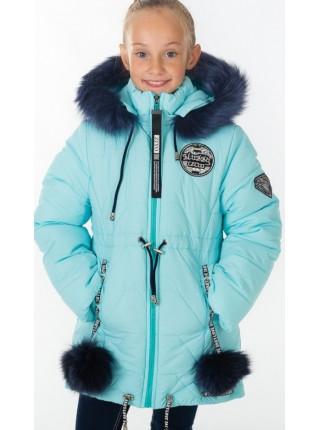 Зимняя куртка БЕТ д/дев. (голубой)