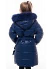 Пальто(зима) ШЕЛЛИ с сумочкой (т.синий)