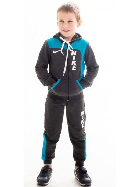 Подростковый спорт. костюм РАИС д/мальч (т.серый+голубой)