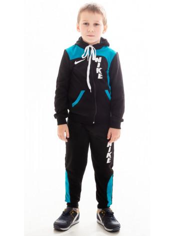 Детский спорт.костюм РАИС д/мальч.(черный+голубой)