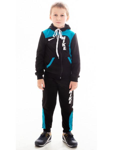 Подростковый спорт.костюм РАИС д/мальч (черный+голубой)