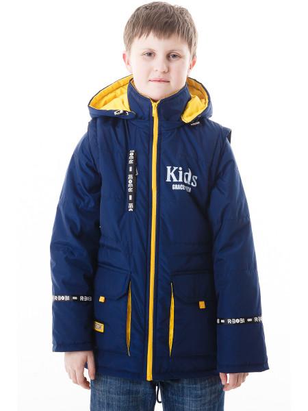 Куртка-жилет Кристиан демисезонная (синий/желтый)