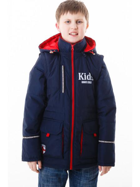 Куртка-жилет Кристиан демисезонная (синий/красный)