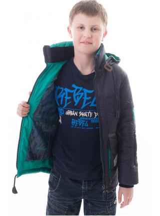 Куртка Ник демисезонная (т.синий/зеленый)