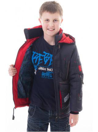Куртка Ник демисезонная (т.синий/красный)