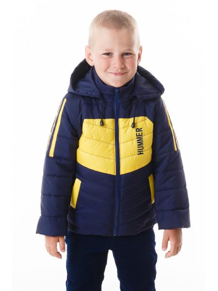 Куртка Хамфри демисезонная (синий+желтый)