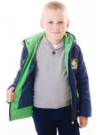 Куртка Эдвард демисезонная (синий/салатный)