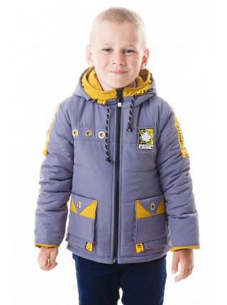 Куртка Эдвард демисезонная (серый+желтый)