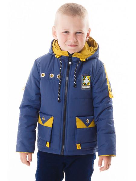 Куртка Эдвард демисезонная (синий/желтый)