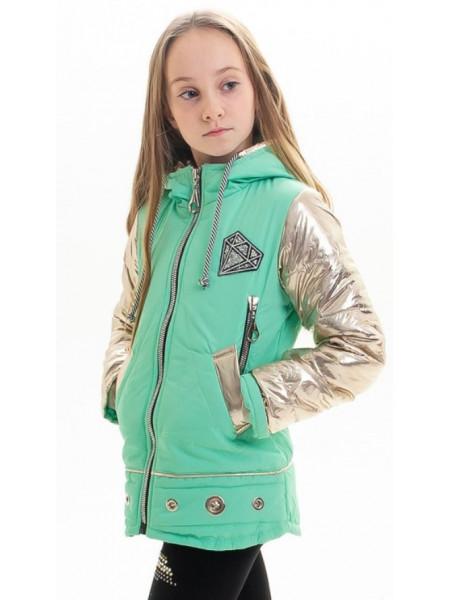 Куртка Анфиса демисезонная д/дев (мятный)