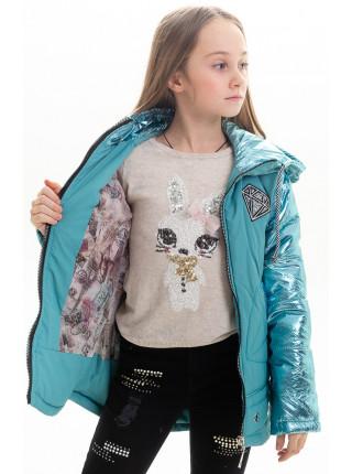 Куртка Анфиса демисезонная д/дев (изумруд)
