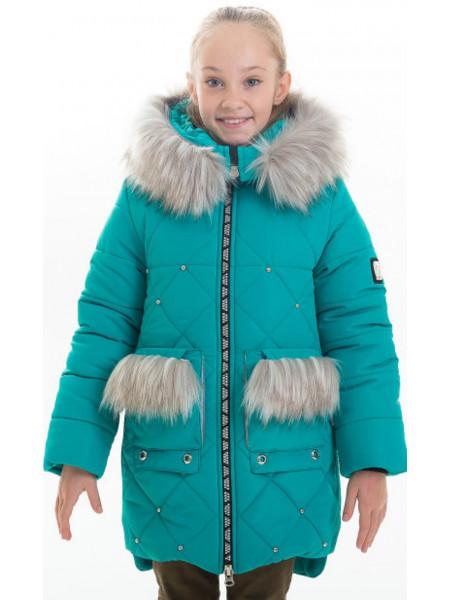 Зимняя куртка РЕВМИРА д/дев (бирюза)