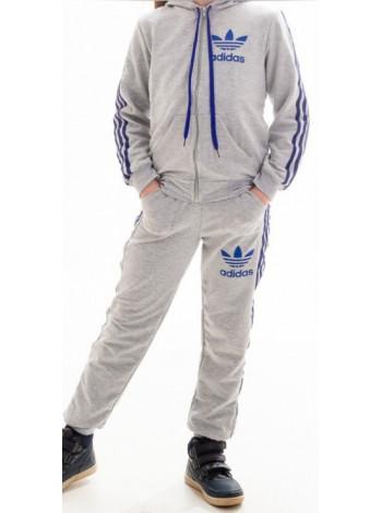 1687-1 Детский спорт.костюм ТРЕНД унисекс (св.серый+синий)