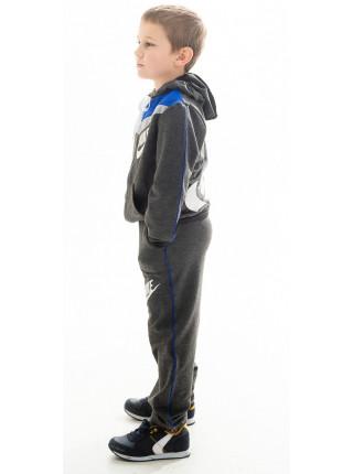 Подростковый спорт.костюм АВЕНИР д/мальч. (т.серый+электрик)