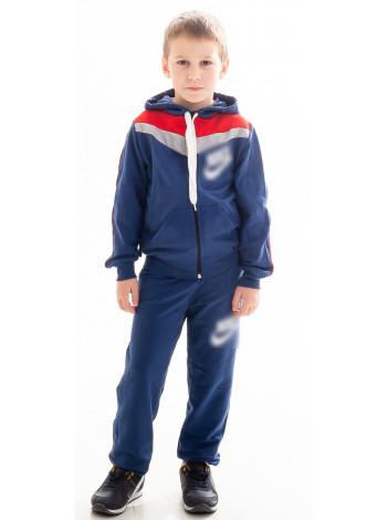 Детский спорт.костюм АВЕНИР д/мальч. (джинс+красный)