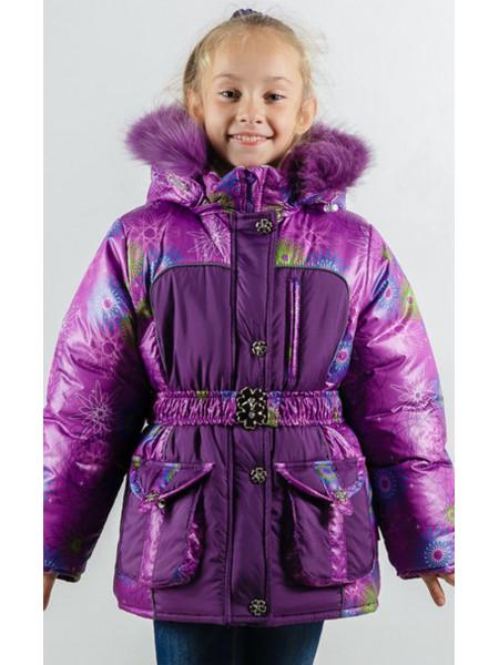 Зимняя куртка УСТИНЬЯ для девочки.(фиолетовый)