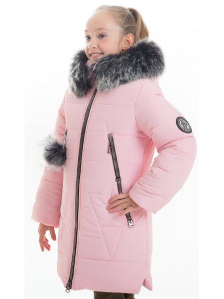 Зимняя куртка АВРЕЛИЯ д/дев.+снуд (розовый)
