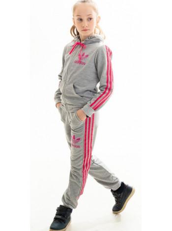 Костюм спортивный для девочки Аделаида (серый/малина)